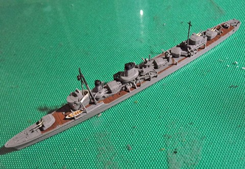 ヤマシタホビー暁型駆逐艦 響の製作3 ひとまず完成
