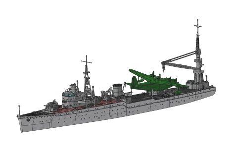 艦これプラモデル 1/700水上機母艦 秋津洲 1月発売