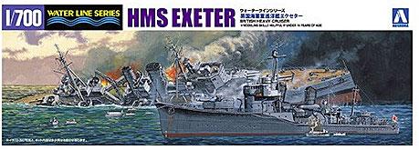 英海軍重巡洋艦エクセターのアオシマ製限定キットが凄い(いろんな意味で)